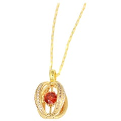 Frederic Sage Sphalerite and Diamond One of Kind Pendant with Chain