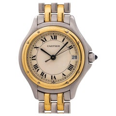Cartier Ladies yellow gold Stainless Steel Cougar quartz wristwatch, circa 1980s
