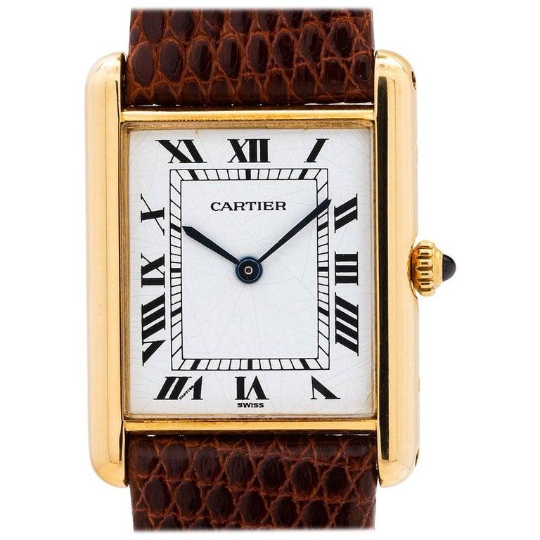 Cartier yellow Gold Tank Louis quartz wristwatch, circa 1990s
