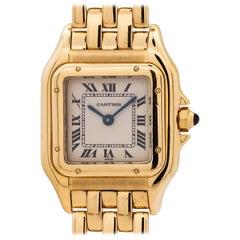 Cartier Ladies Yellow Gold Panther quartz wristwatch, circa 1990s
