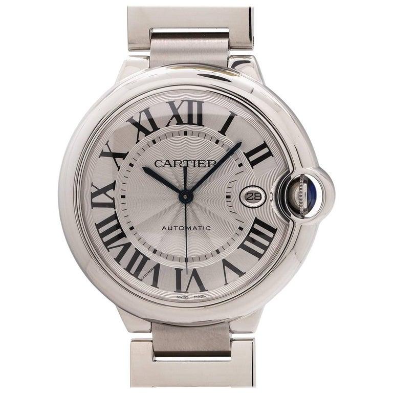 Cartier Stainless Steel Ballon Bleu self winding wristwatch, circa 2000s For Sale