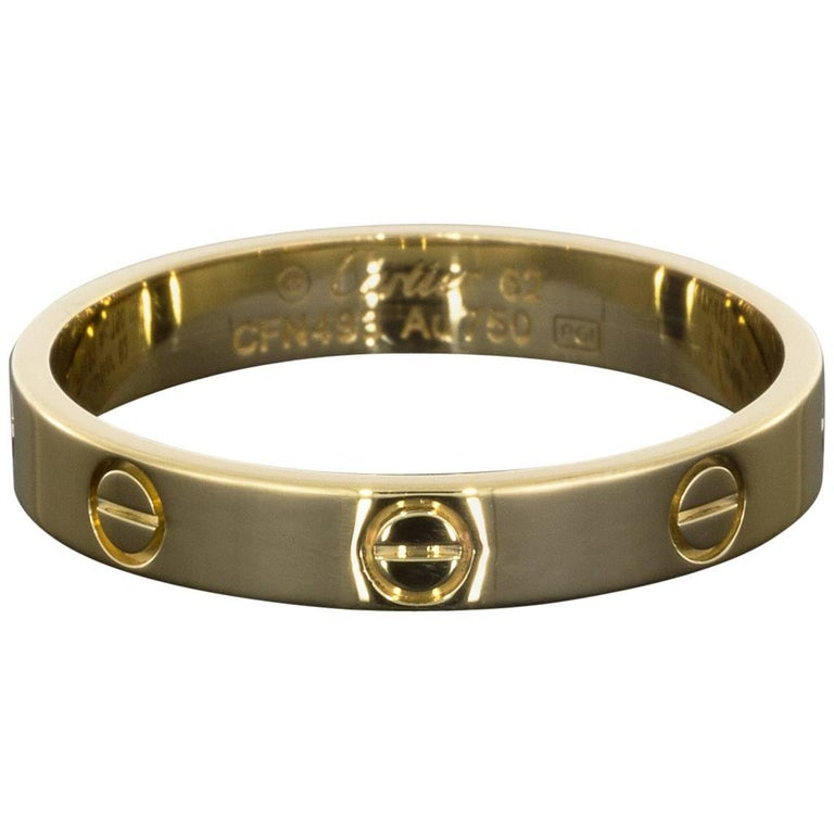 Cartier Love Band 18 Karat Yellow Gold Ring