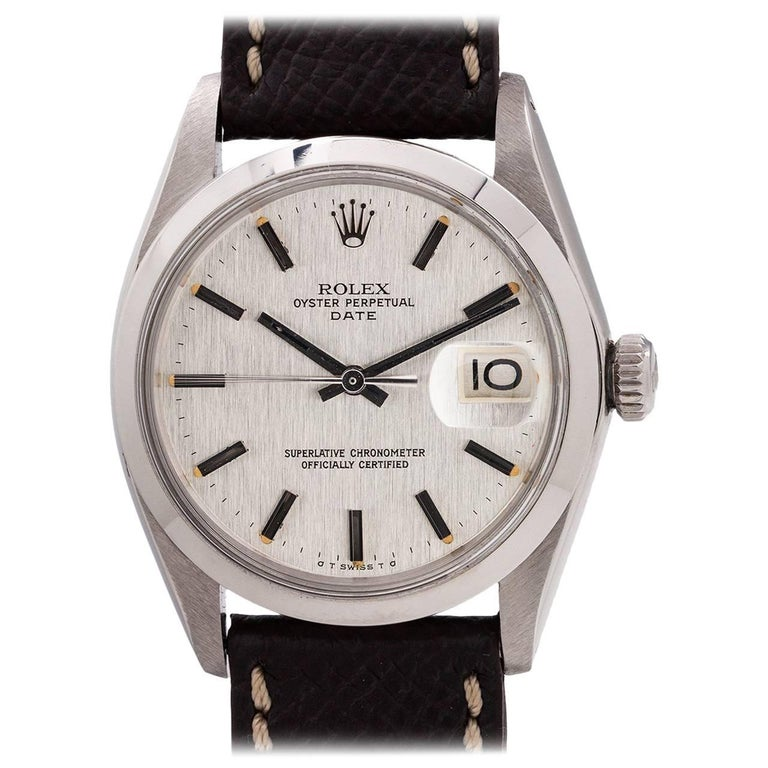 Rolex Stainless Steel Oyster Perpetual Date self winding wristwatch, c 1970