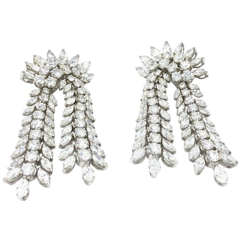 26.96 Carat Diamond Earrings