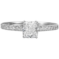 GIA Certified 1.51 Carat Cushion Cut Diamond Engagement Ring
