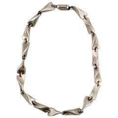 Rare Georg Jensen Sterling Silver 925s Vintage Necklace, 1950s