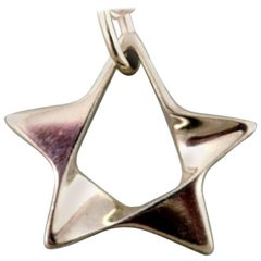 Georg Jensen 925 Sterling Silver Star Necklace
