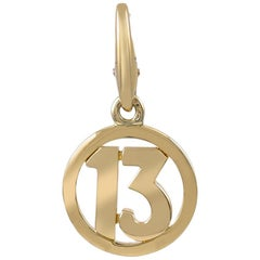 Cartier Gold 13 Charm