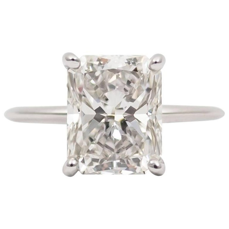 J. Birnbach GIA Certified 3.70 Radiant Cut Diamond Ring