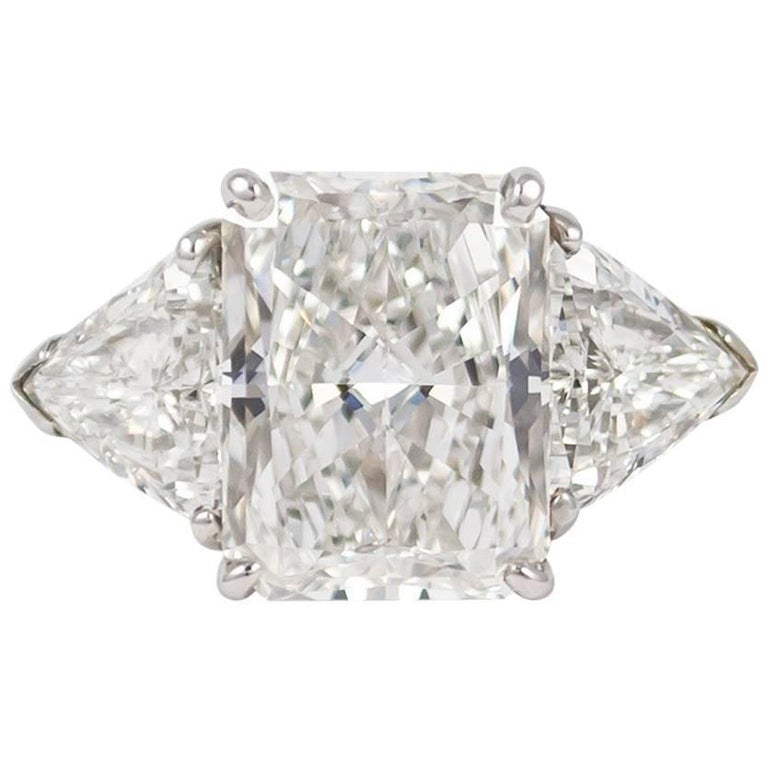 Cartier GIA Certified 5.27 Carat Radiant Cut Diamond Ring
