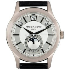 Patek Philippe White Gold Annual Calendar Rhodium Dial Automatic Wristwatch