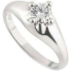 Bvlgari Corona Platinum Diamond Ring 0.30 Carat
