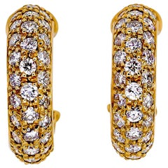 Cartier Mimi Diamond Gold Huggie Earrings