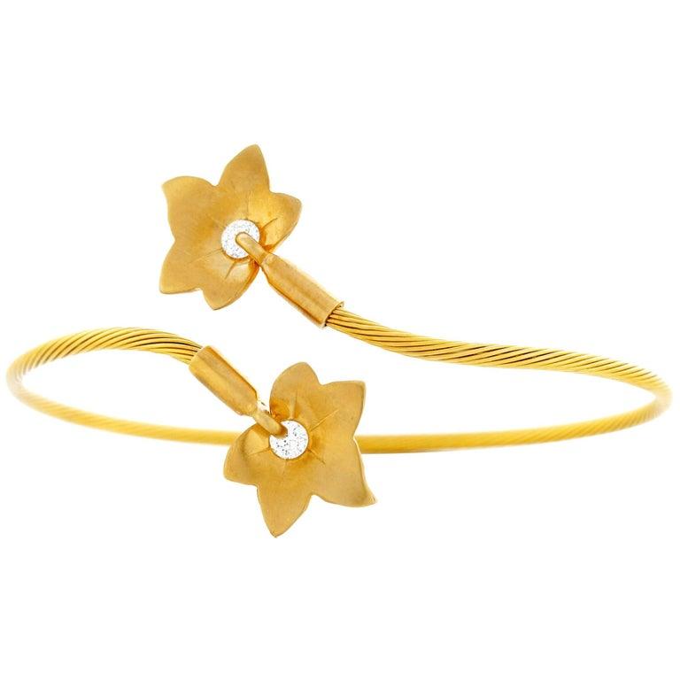 Reiss Diamond Set Ivy Bracelet