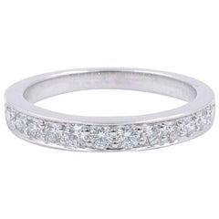 Tiffany & Co. Platinum Half-Set Diamond 0.25 Carat Band 3.75