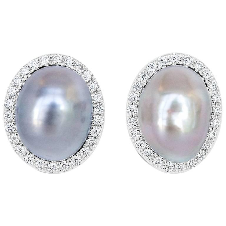 Mismatched Tahitian Keshi Pearl Stud Earrings For