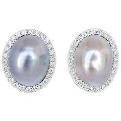 Mismatched Tahitian Keshi Pearl Stud Earrings