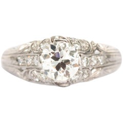 1.01 Carat Platinum Diamond Engagement Ring