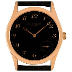 Patek Philippe Calatrava Gents Rose Gold Black Dial 5026R-001 Automatic Watch