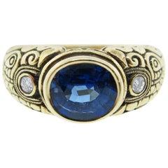 Alex Sepkus Sapphire and Diamond Ring