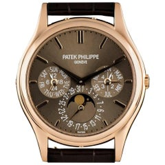 Patek Philippe Rose Gold Perpetual Calendar Ultra Thin Automatic Wristwatch