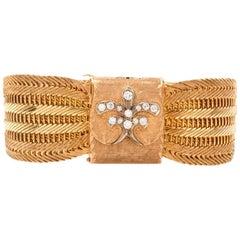 Vintage Omega Diamond 18 Karat Yellow Gold Ladies Cocktail Watch