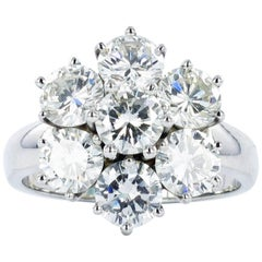 Classic Diamond White Gold Cluster Ring