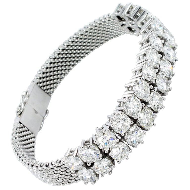 White Gold Diamond Double Row Bracelet