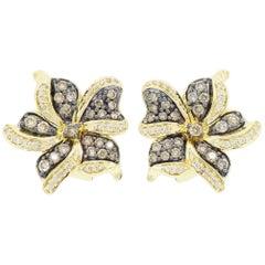 Le Vian Flower Diamond Earrings