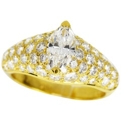 Cartier 18 Karat Yellow Gold Simple Must Diamond Ring
