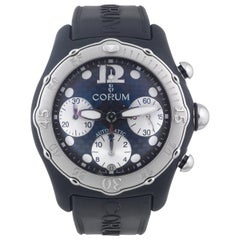 Corum Stainless steel rubber Bubble Midnight Chronograph Automatic wristwatch