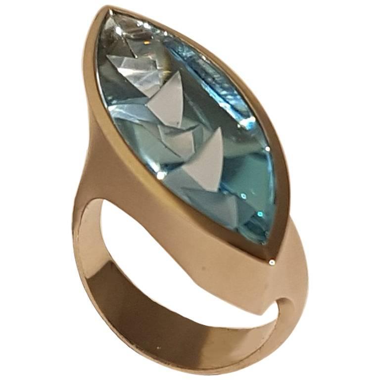 Aquamarine Platinum Ring Atelier Munsteiner