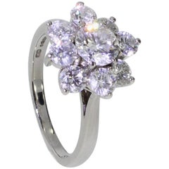 Platinum Bolero Design Diamond Cluster Ring by Boodles, 1.95 Carat