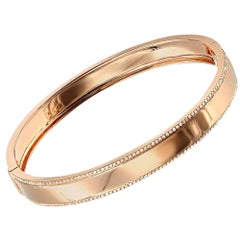 0.50 Carat Diamond Trimmed 14 Karat Rose Gold Bangle