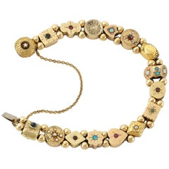 Vintage Slide Multi Stone Bracelet