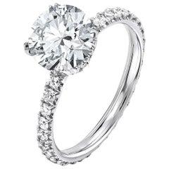 GIA Certified 2.01 Carat Round Cut Diamond Ring