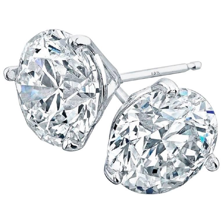 2.06 Total Carat Weight Diamond Stud Earrings I/VS2