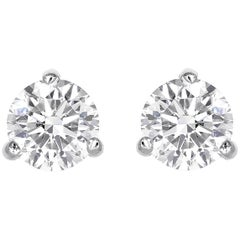 3.42 Total Carat Weight GIA Certified Diamond Stud Earrings H/SI1