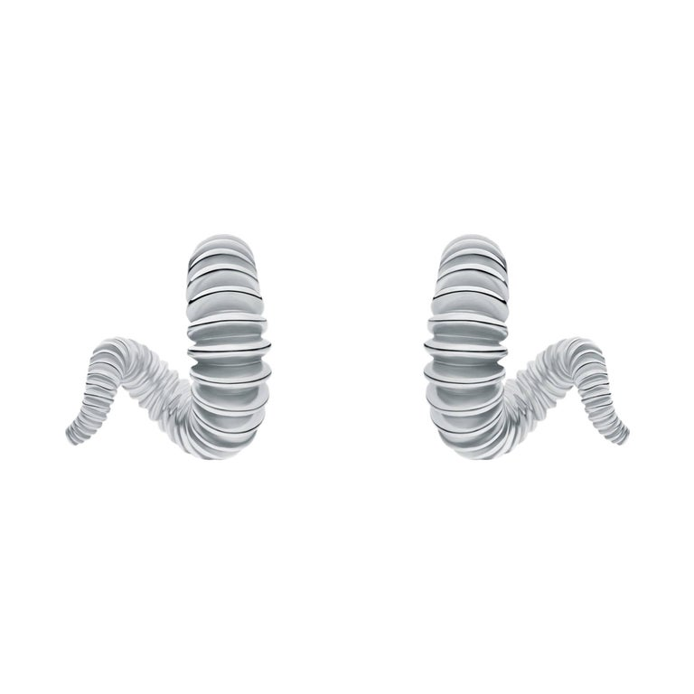 Sterling Silver Danger Earrings