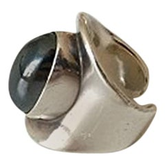 Bent Knudsen Sterling Silver Ring #4 with Hematite