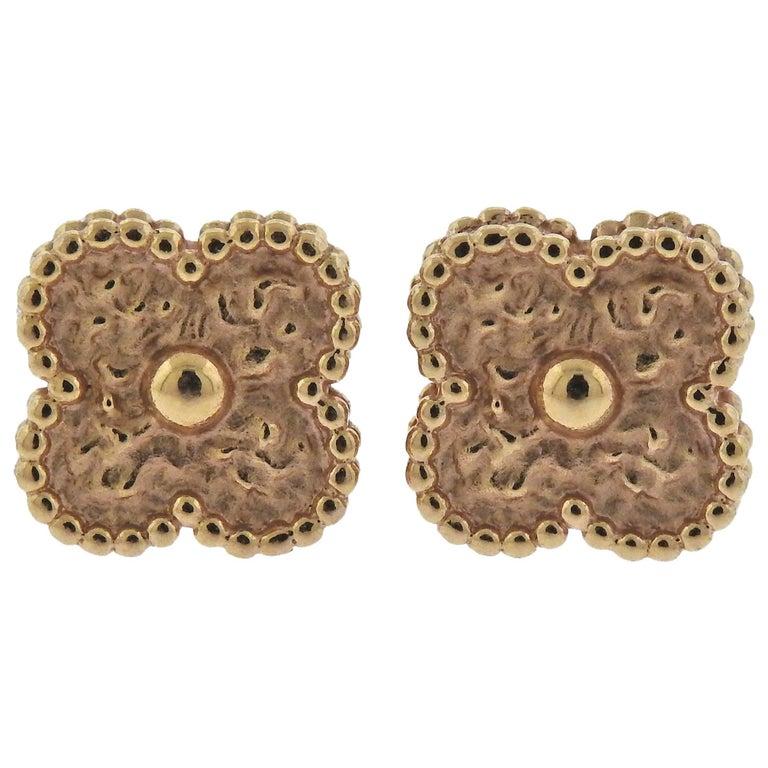 Van Cleef & Arpels Sweet Alhambra Gold Earrings