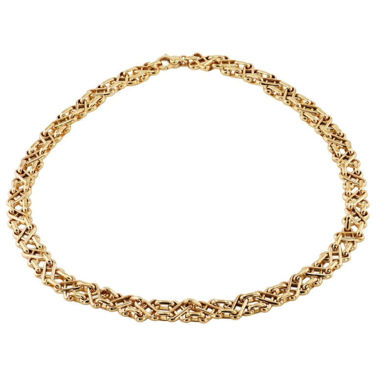 Tiffany & Co. Yellow Gold Geometric Design Necklace