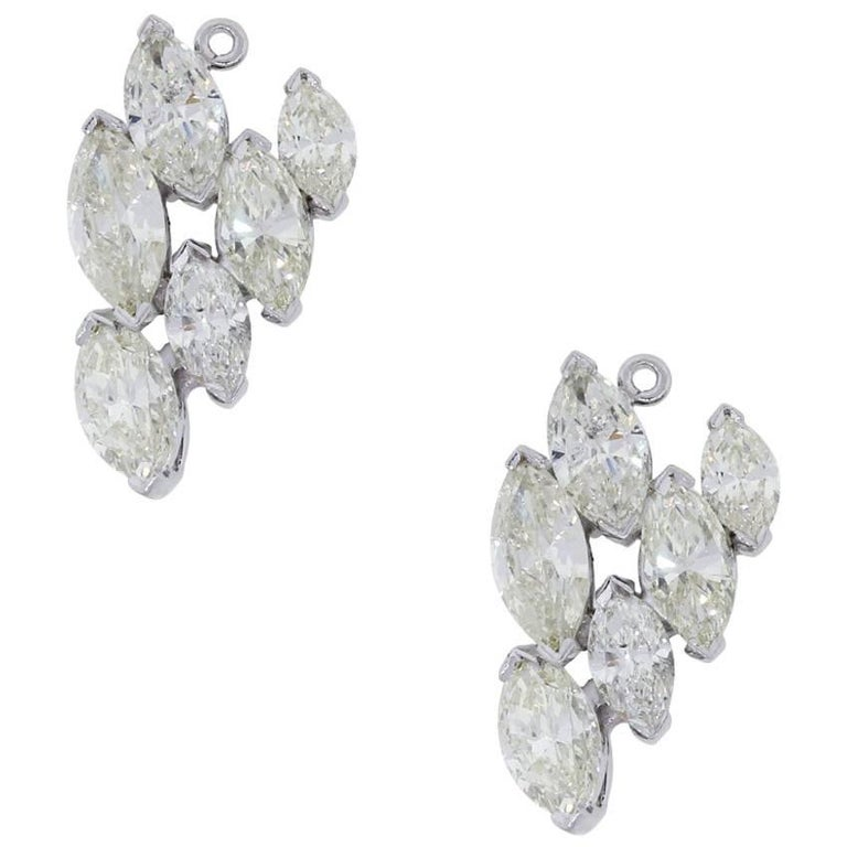 Marquise Diamond Cluster Earring Jackets