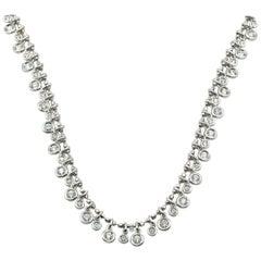 "3.12 Carats Round Brilliant Diamonds by the Yard ""Aspery & Guldag"" Necklace 18k"