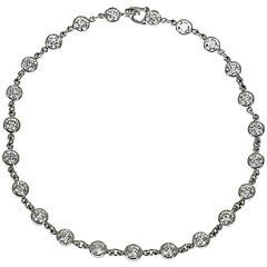 Tiffany & Co. 23P Diamonds by the Yard Platinum Bracelet