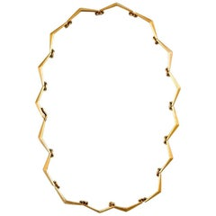 Just Andersen 1940s 18 Karat Gold Necklace