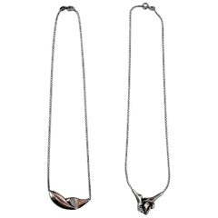 N.E. From, Two Sterling Silver Necklaces, Modern Danish Design, circa 1970s