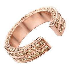 18 Karat Pink Gold Brown Diamonds Brute Ring
