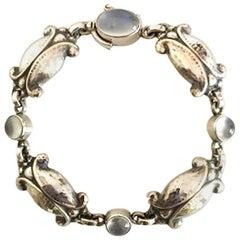 Georg Jensen Sterling Silver Bracelet with Moonstones No 11