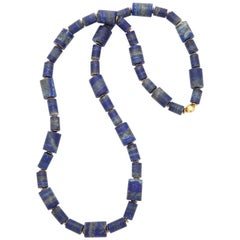 Lapis Gold Long Chain